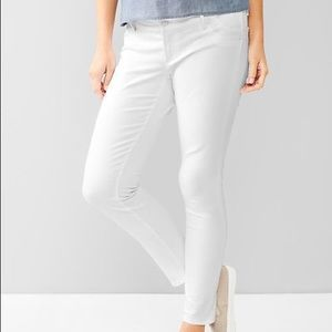 GAP 1969 white straight jeans
